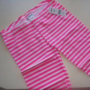 Pink Striped Biker Shorts Size Small NWT
